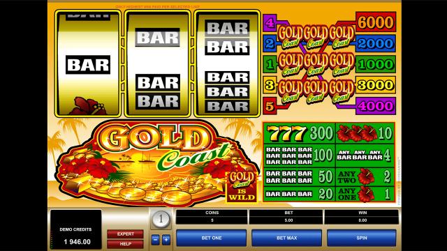 Игровой интерфейс Gold Coast 10