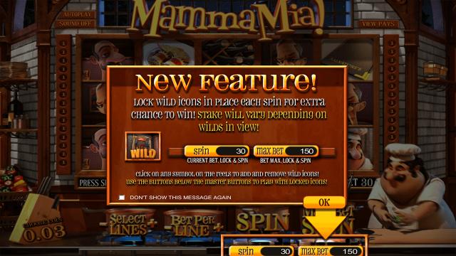 Бонусная игра Mamma Mia 1
