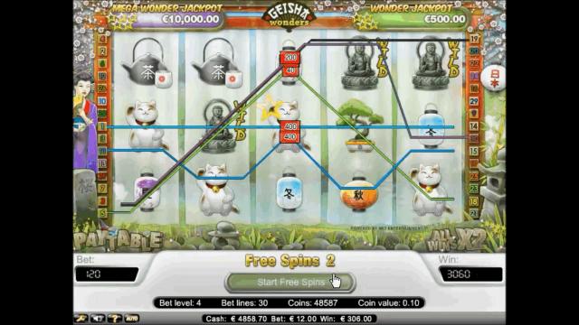 Бонусная игра Geisha Wonders 10