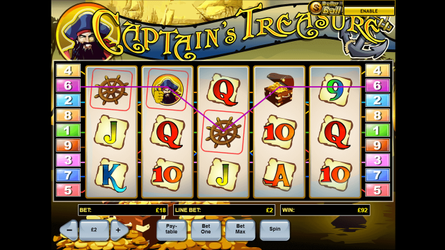 Игровой интерфейс Captain's Treasure 3