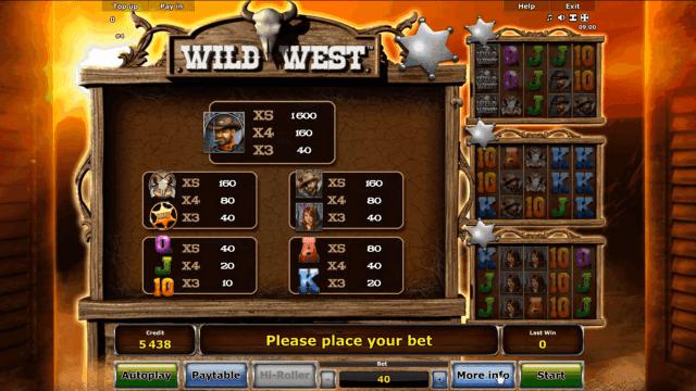 Игровой интерфейс Wild West 2