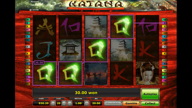 Игровой интерфейс Katana 7