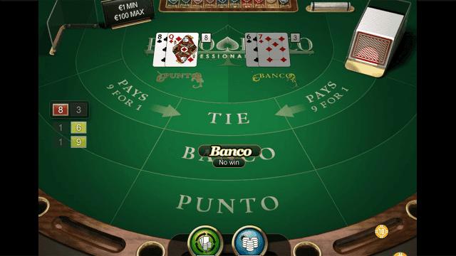 Характеристики слота Punto Banco Professional Series 4