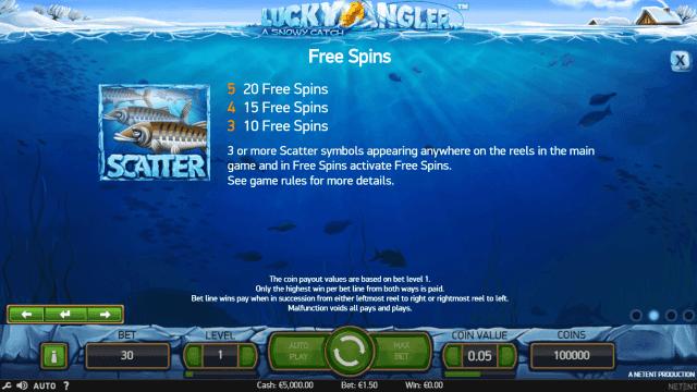 Бонусная игра Lucky Angler: A Snowy Catch 3