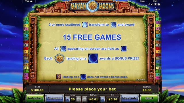 Бонусная игра Mayan Moons 3