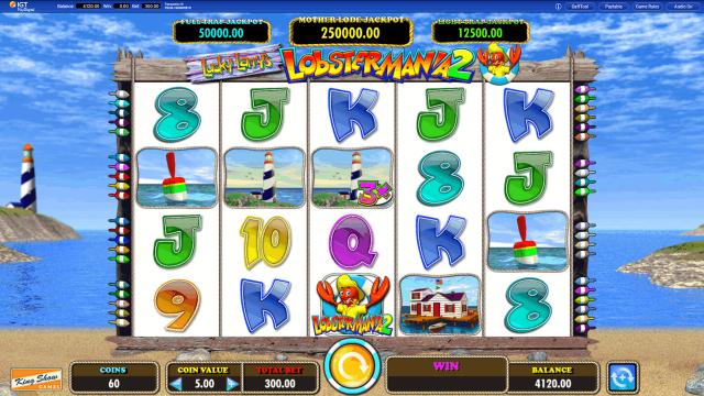 Игровой интерфейс Lucky Larry's Lobstermania 2 8