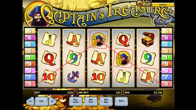 Игровой интерфейс Captain's Treasure 6