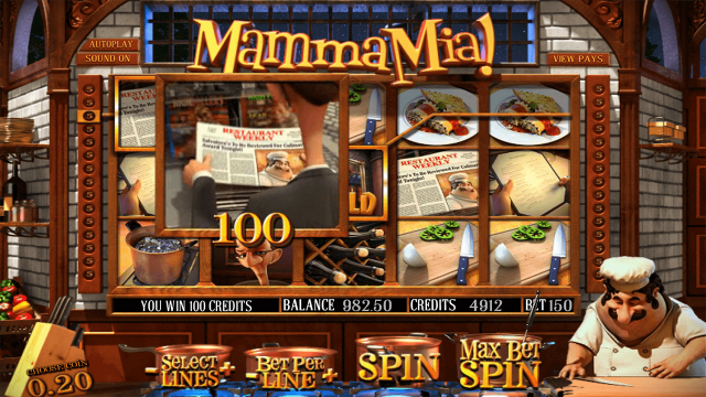 Бонусная игра Mamma Mia 10