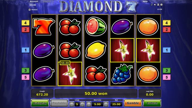 Бонусная игра Diamond 7 8