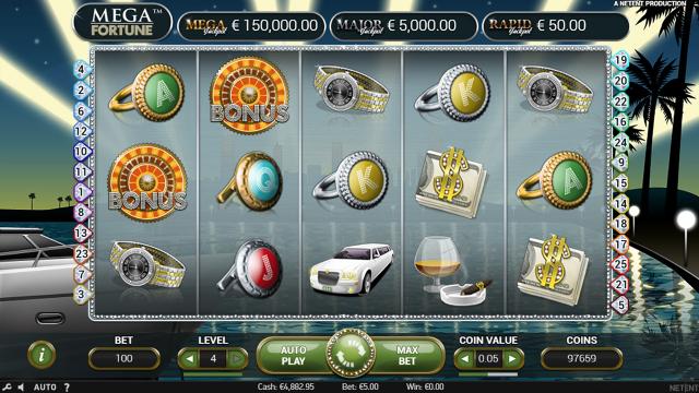Игровой интерфейс Mega Fortune 6