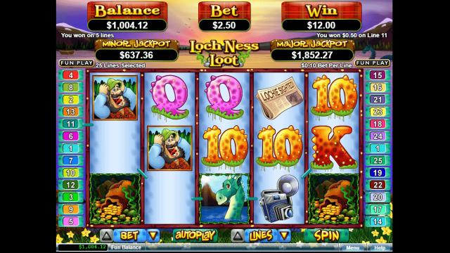Бонусная игра Loch Ness Loot 8