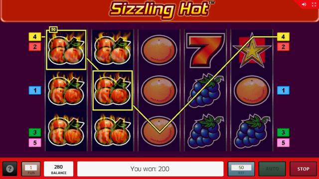 Бонусная игра Sizzling Hot 20