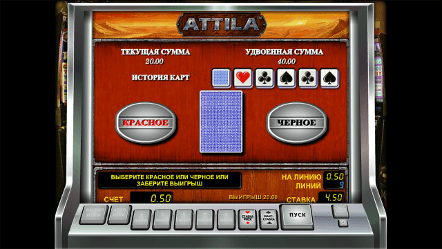 Характеристики слота Attila 6