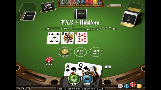 Характеристики слота TXS Hold'em Pro Series 5