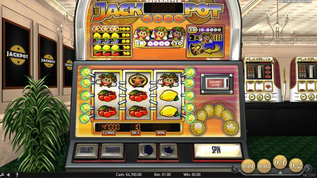 Характеристики слота Jackpot 6000 1