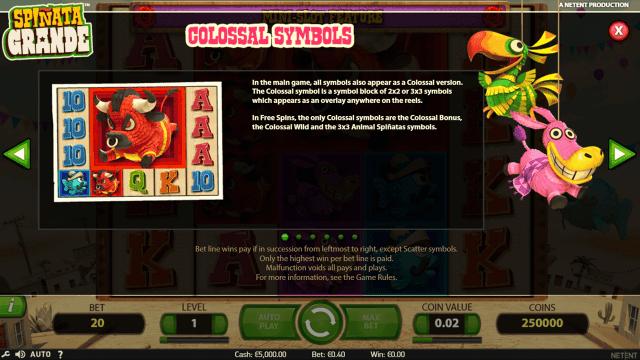 Игровой интерфейс Spinata Grande 1
