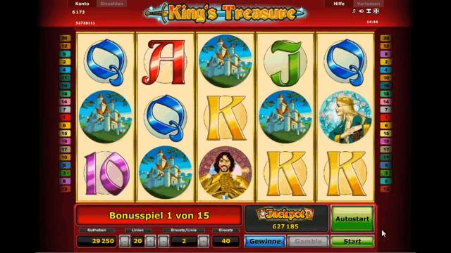 Бонусная игра King's Treasure 6