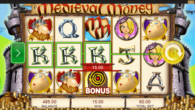 Характеристики слота Medieval Money 8