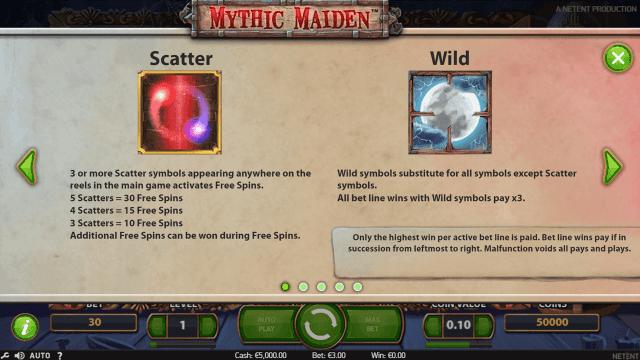 Характеристики слота Mythic Maiden 1