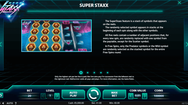 Бонусная игра Neon Staxx 1