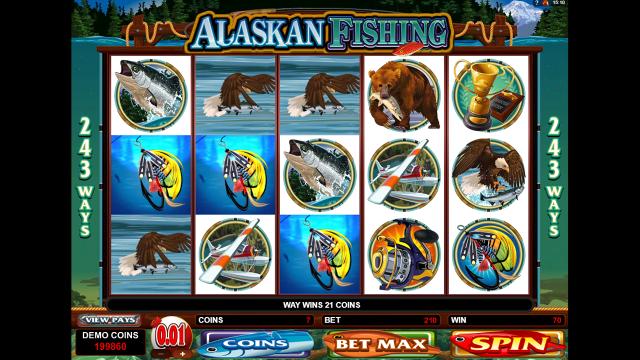 Бонусная игра Alaskan Fishing 10