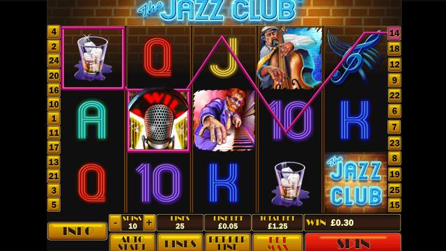 Бонусная игра The Jazz Club 1