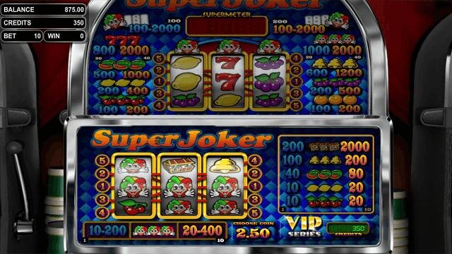 Игровой интерфейс Super Joker VIP 7