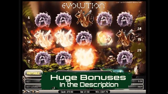 Бонусная игра Evolution 9