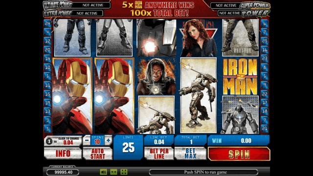 Игровой интерфейс Iron Man 2 3