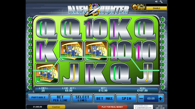 Игровой интерфейс Alien Hunter 7