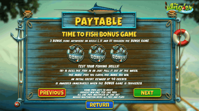 Бонусная игра The Angler 10