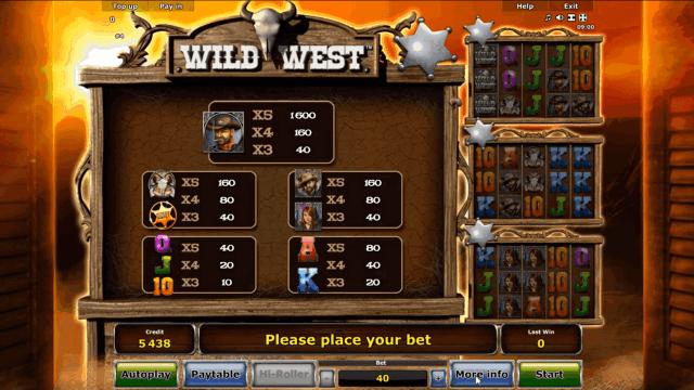 Игровой интерфейс Wild West 5