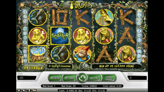Бонусная игра Trolls 5