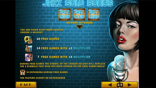 Бонусная игра The Jazz Club 4