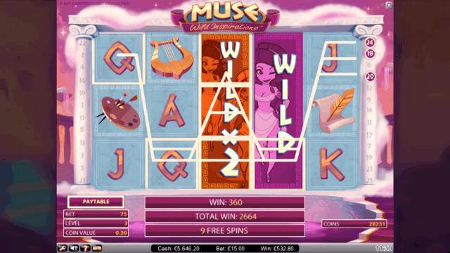Характеристики слота Muse 9