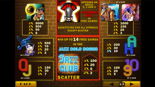 Бонусная игра The Jazz Club 3