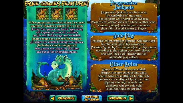 Характеристики слота Loch Ness Loot 3