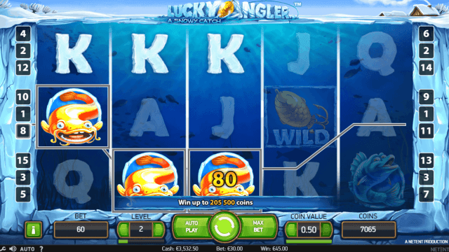 Игровой интерфейс Lucky Angler: A Snowy Catch 8