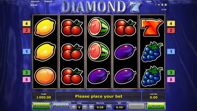 Игровой интерфейс Diamond 7 7