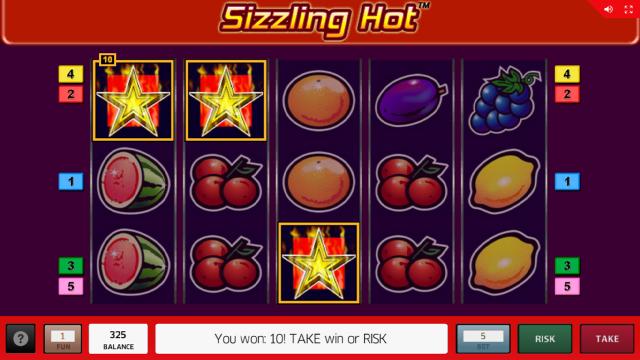 Характеристики слота Sizzling Hot 14