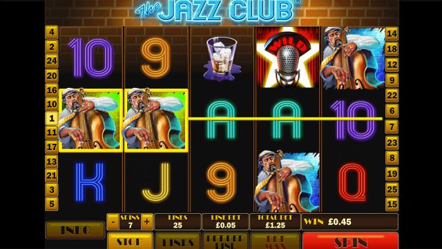 Характеристики слота The Jazz Club 6