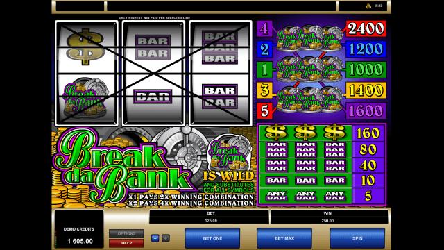 Игровой интерфейс Break Da Bank 10