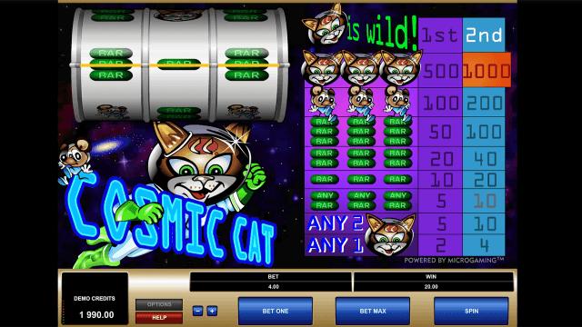 Характеристики слота Cosmic Cat 8