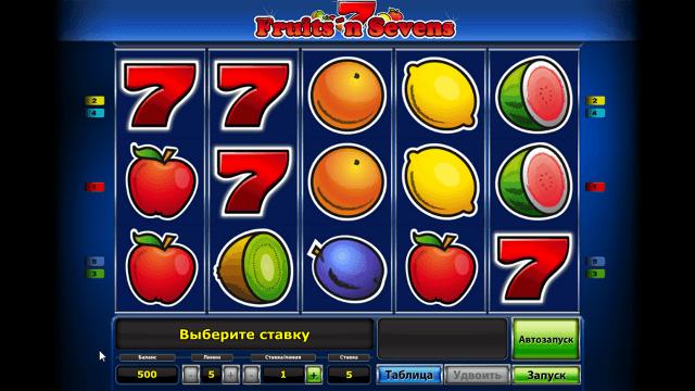 Игровой интерфейс Fruits' N Sevens 2