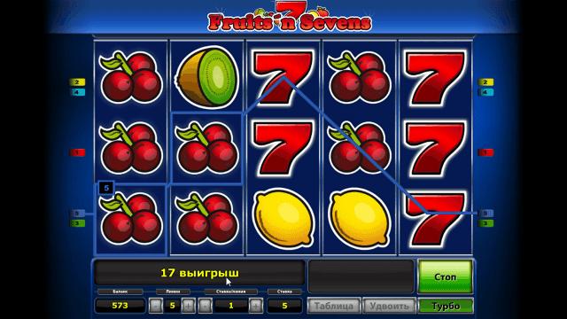 Бонусная игра Fruits' N Sevens 8