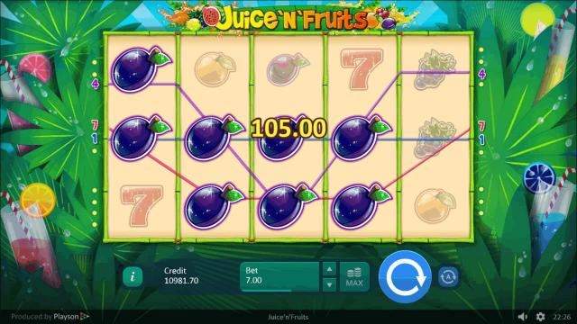 Игровой интерфейс Juice 'N' Fruits 4