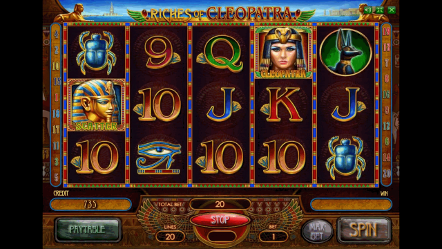Бонусная игра Riches Of Cleopatra 3