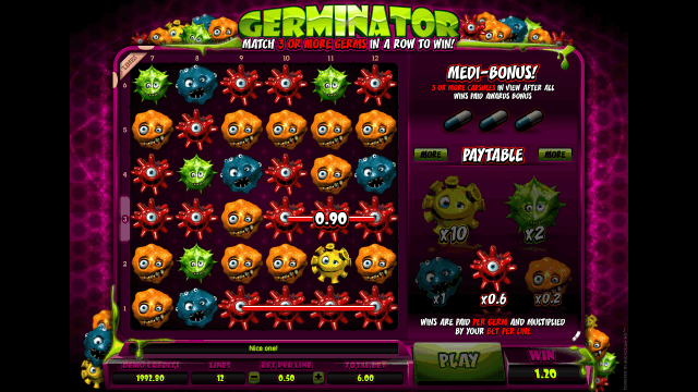 Игровой интерфейс Germinator 6