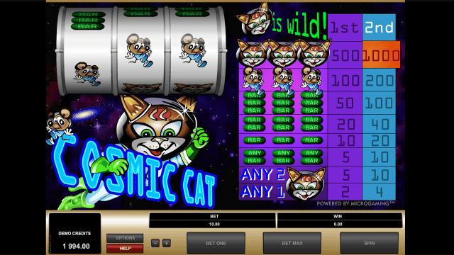 Игровой интерфейс Cosmic Cat 6