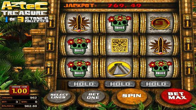 Характеристики слота Aztec Treasure 2D 8